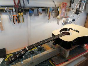 Squier Acoustic Guitar Set-up